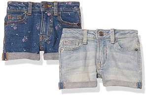 2-Pack Girls Denim Jean Shorts