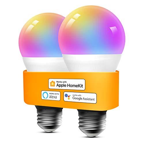 Refoss Dimmbare, Mehrfarbige WLAN LED Lampen 2er Pack, kompatibel mit, Alexa, Google Assitant & Siri