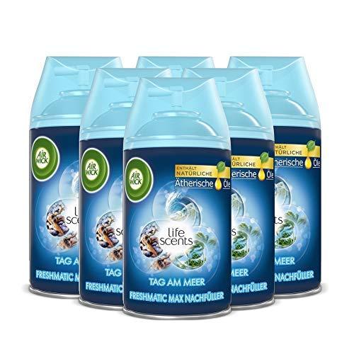 Nachfüller für den Air Wick Freshmatic Max – Duft: Tag am Meer – 6 x 250 ml Nachfüller