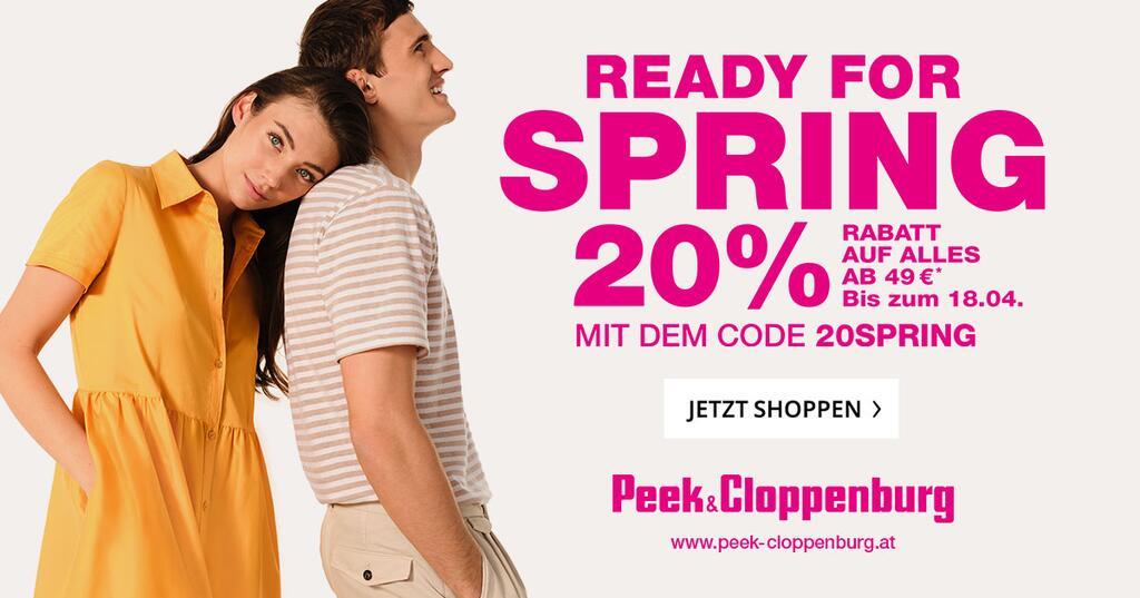 Peek & Cloppenburg: 20% Rabatt auf ALLES inklusive Sale ab 49€ Bestellwert