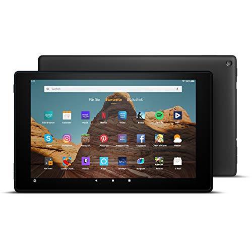 FireHD10-Tablet10,1Zoll großes FullHD-Display (1080p), 32 GB, Schwarz, Mit Werbung