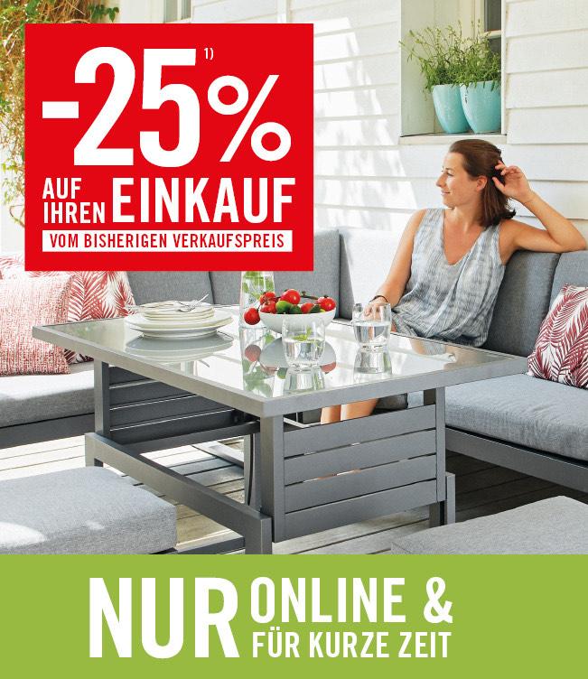 -25% auf den Einkauf bei kika/Leiner