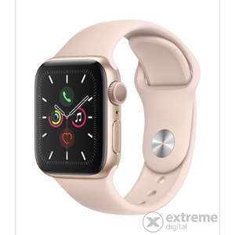 Apple Watch Series 5 (GPS) 44mm Aluminium gold mit Sportarmband sandrosa