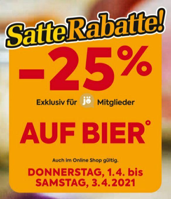 -25% auf Bier beim Billa/Merkur vom 01.04.-03.04.