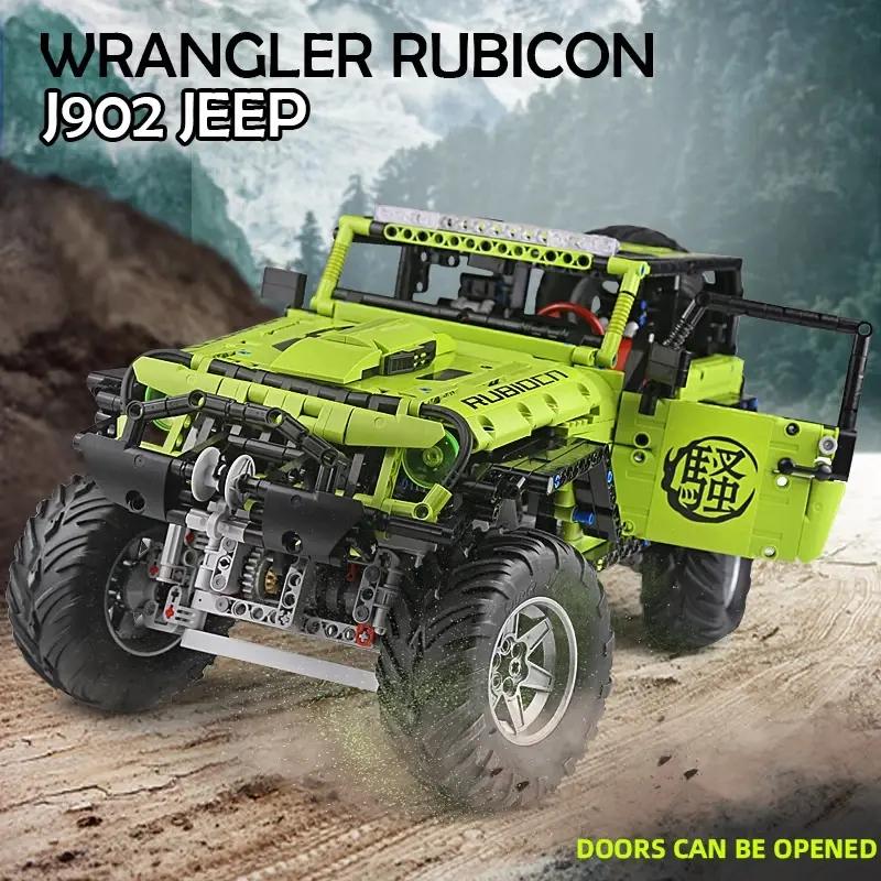 RAEL J902 Jeep Wrangler Rubicon RC-Off-Road-Truck mit LED, RC, 4 Motoren - 2343 Klemmbausteine - static ca. 66,20 EUR