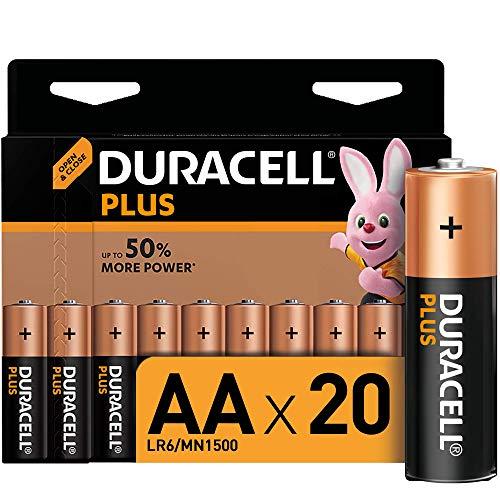 20 Stück Duracell AA Batterien um € 7,28