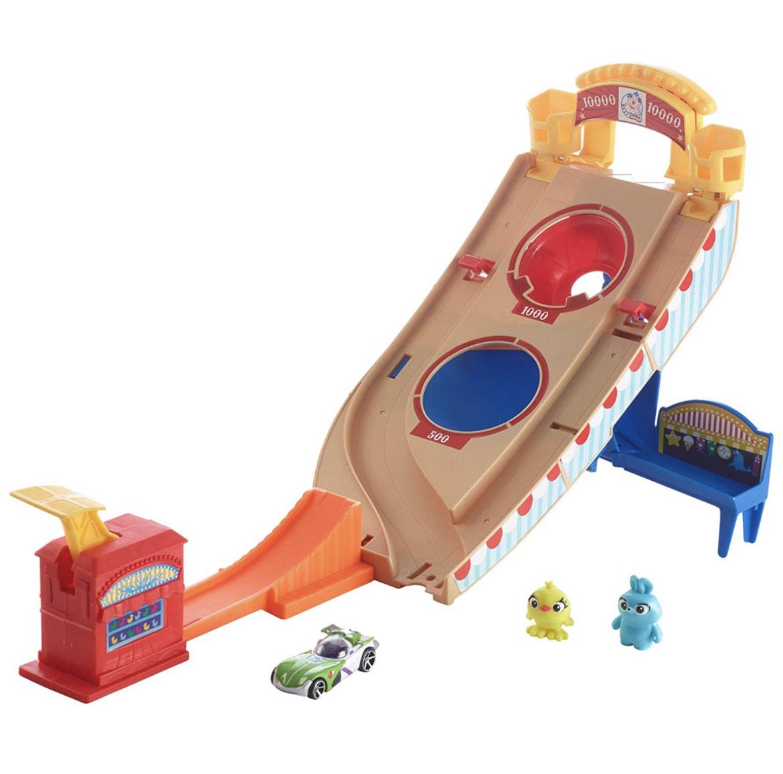 Hot Wheels GCP24 - Disney Pixar Toy Story 4 Buzz Lightyear Jahrmarkt Rettungseinsatz Spielset