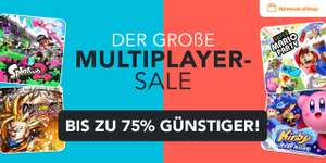 Multiplayer Sale im Nintendo eShop (z.B. Splatoon 2 für 39,99€)