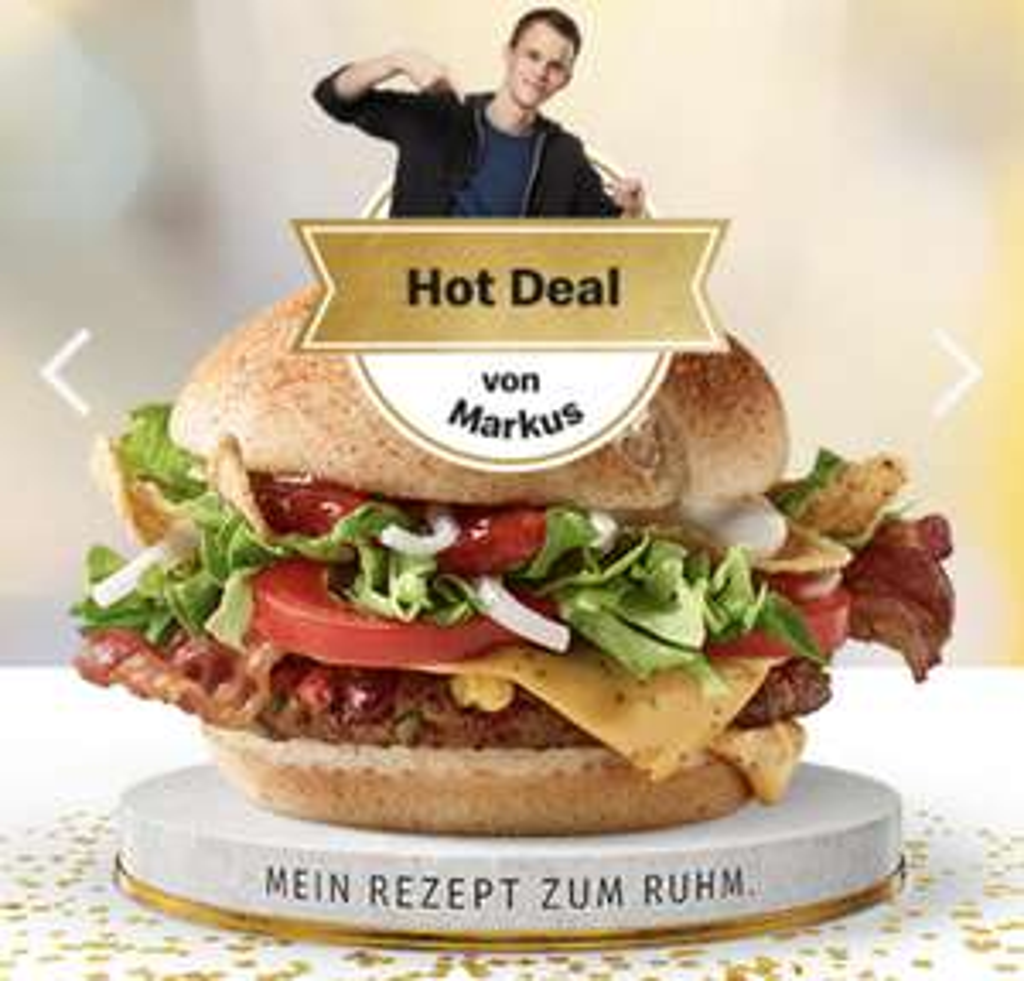 McDonald's - exklusiver Preisjäger Burger + 100 Gratis-Burger (kein April-Scherz!)