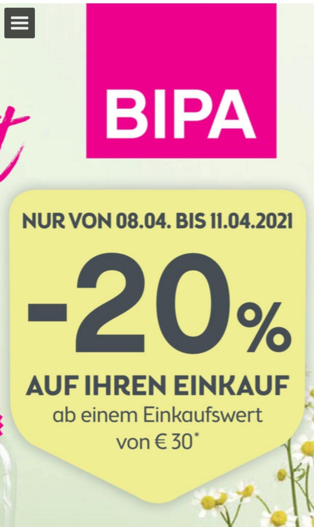 -20% auf den Einkauf beim BIPA ab MBW 30€