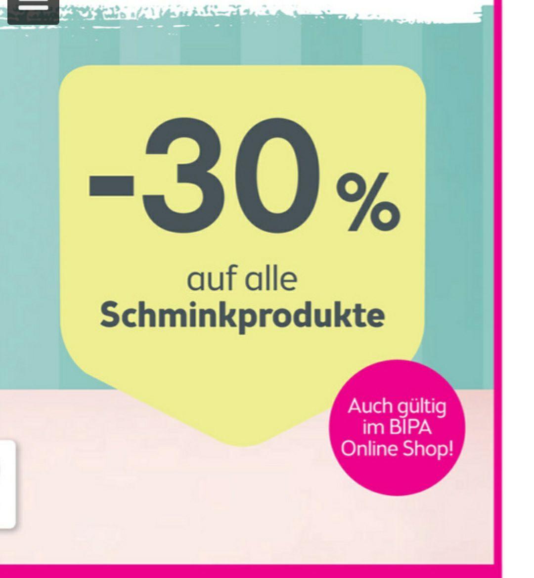 -30% auf alle Schminkprodukte beim Bipa