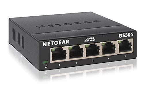 Netgear SOHO GS300 Desktop Gigabit Switch, 5x RJ-45, V3