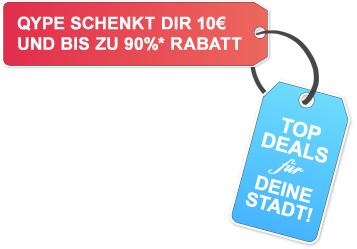 10€ DailyDeal-Gutschein durch Qype-Registrierung - z.B. 60€ Profirad-Gutschein für 20€