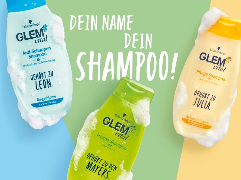 Persönliches GLEM vital Shampoo mit Name
