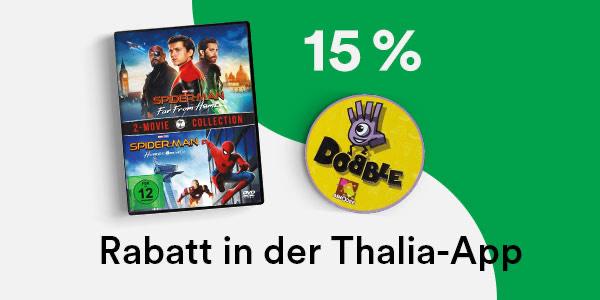 15% Rabatt in der Thalia App