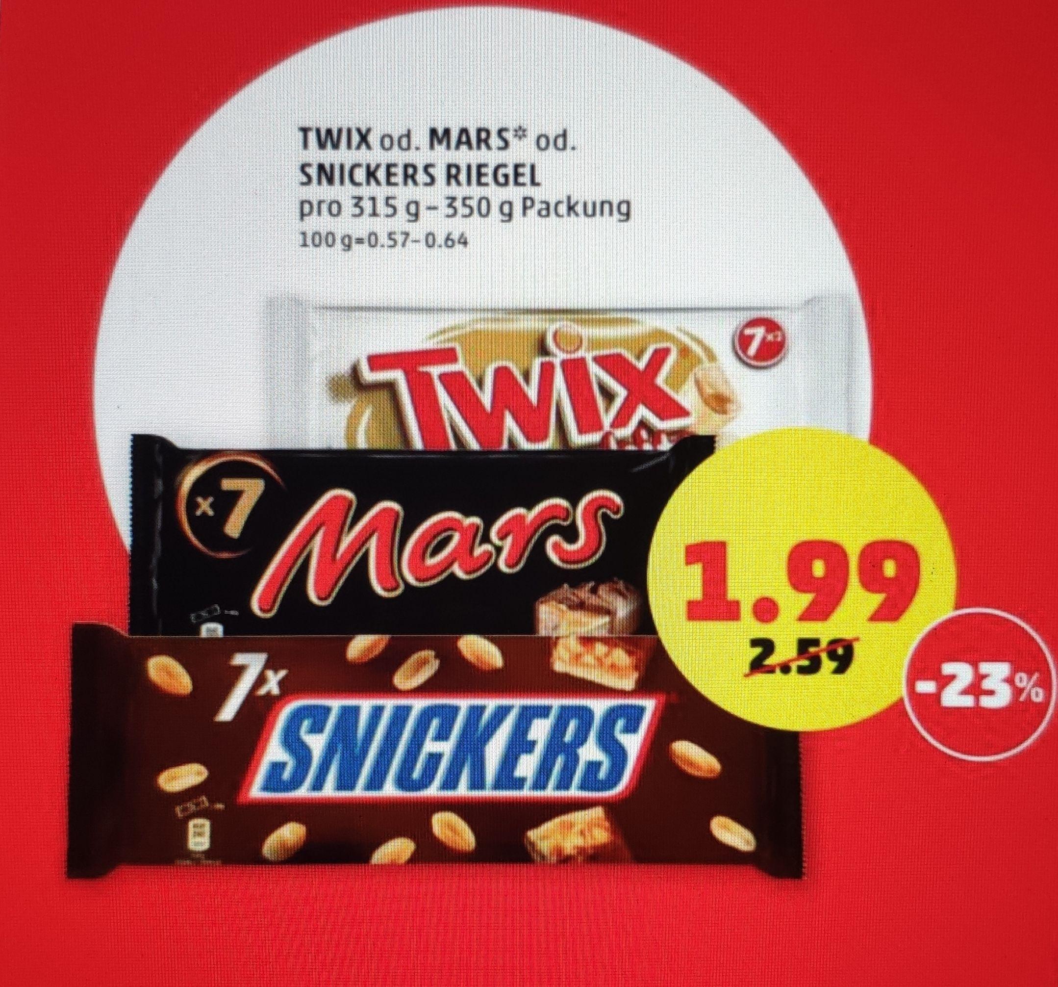 7er Snickers, Mars, Twix