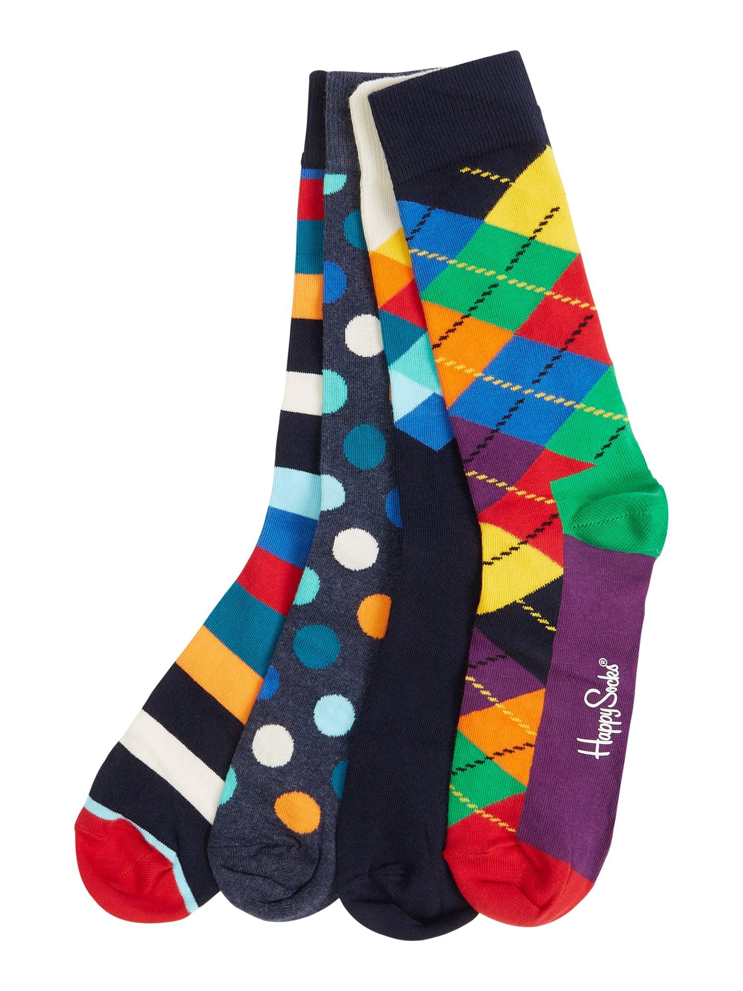 8 Paar Happy Socks, Gr. 41-46