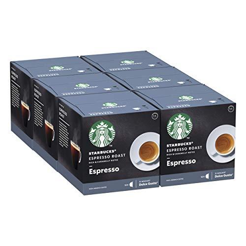 6x 12 Starbucks Espresso Roast By Nescafe Dolce Gusto