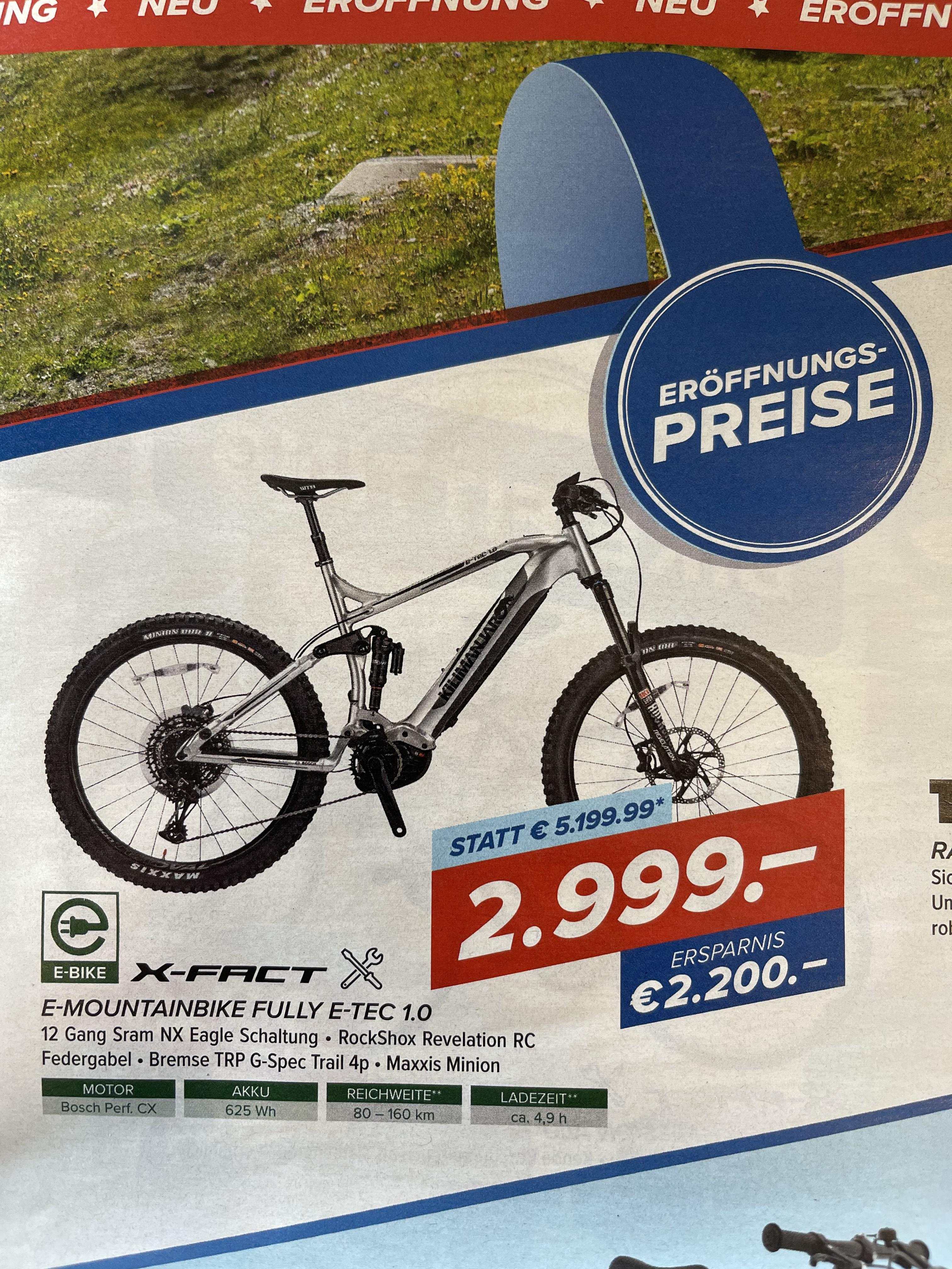 (Lokal Weiz, Steiermark) Kilimanjaro Fully E-Bike