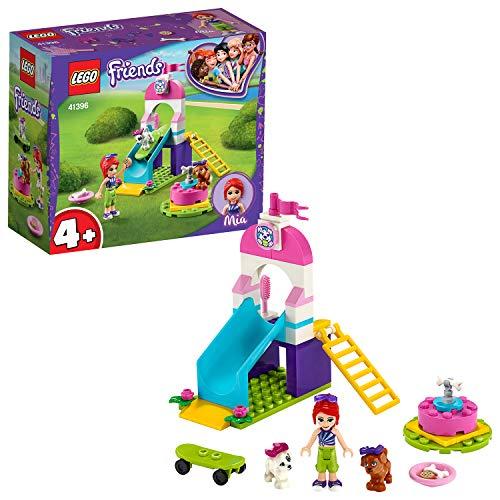 LEGO 41396 Friends Welpenspielplatz, Spielset für Vorschulkinder mit Mia und 2 Hundefiguren, Welpenrutsche und Karussell
