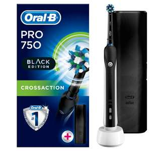 Oral B Pro 750 Black Edition mit Reiseetui