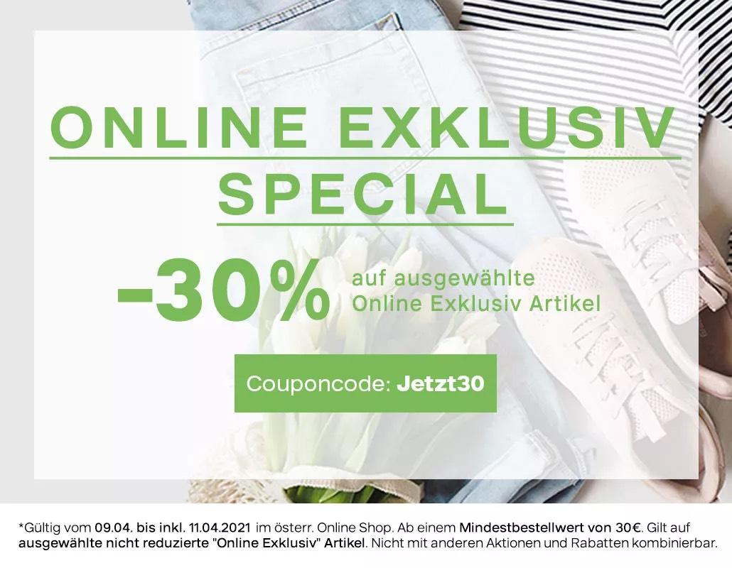 30% auf online exklusiv Artikel bei Deichmann