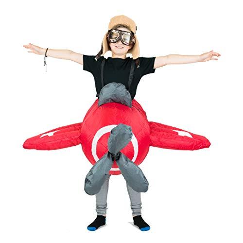 Bodysocks Selbstaufblasbares Flugzeug Kostüm für Kinder von 5 bis 11 Jahre
