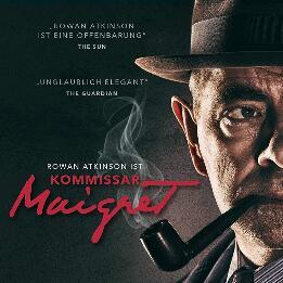"""Kommissar Maigret: """"Die Falle"""" und """"Eint toter Mann"""" mit Rowan Atkinson, als Stream oder zum Herunterladen aus der 3Sat Mediathek"""