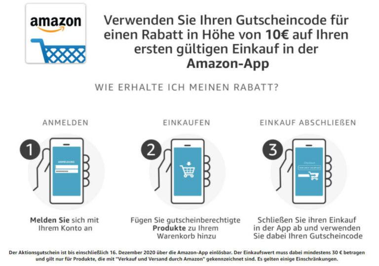 Amazon-Gutschein 10€
