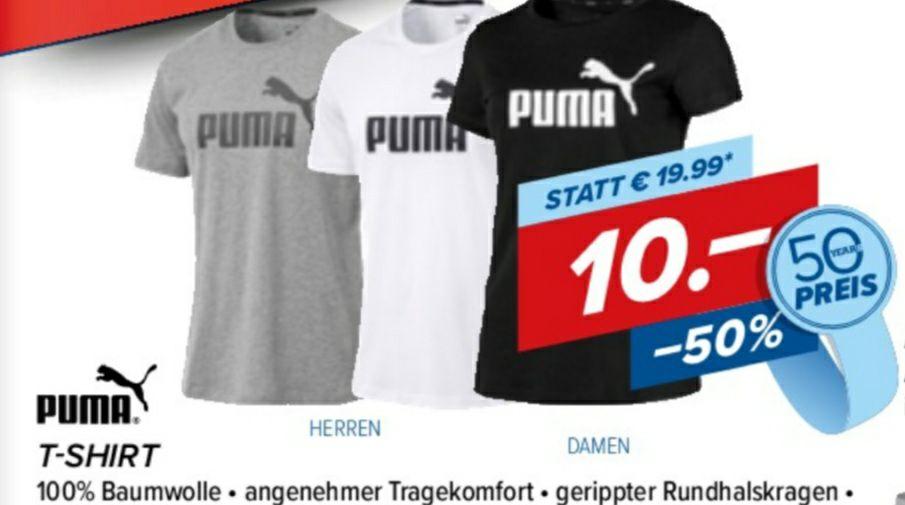 PUMA T-Shirt Damen und Herren bei Hervis um € 10