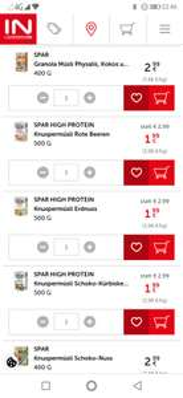 Spar High Protein Müsli um 1,99 statt 2,99 bis 21.4. im Angebot