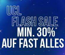 11teamsports: Champions League Flash Sale - mindestens 30% Rabatt auf fast alles