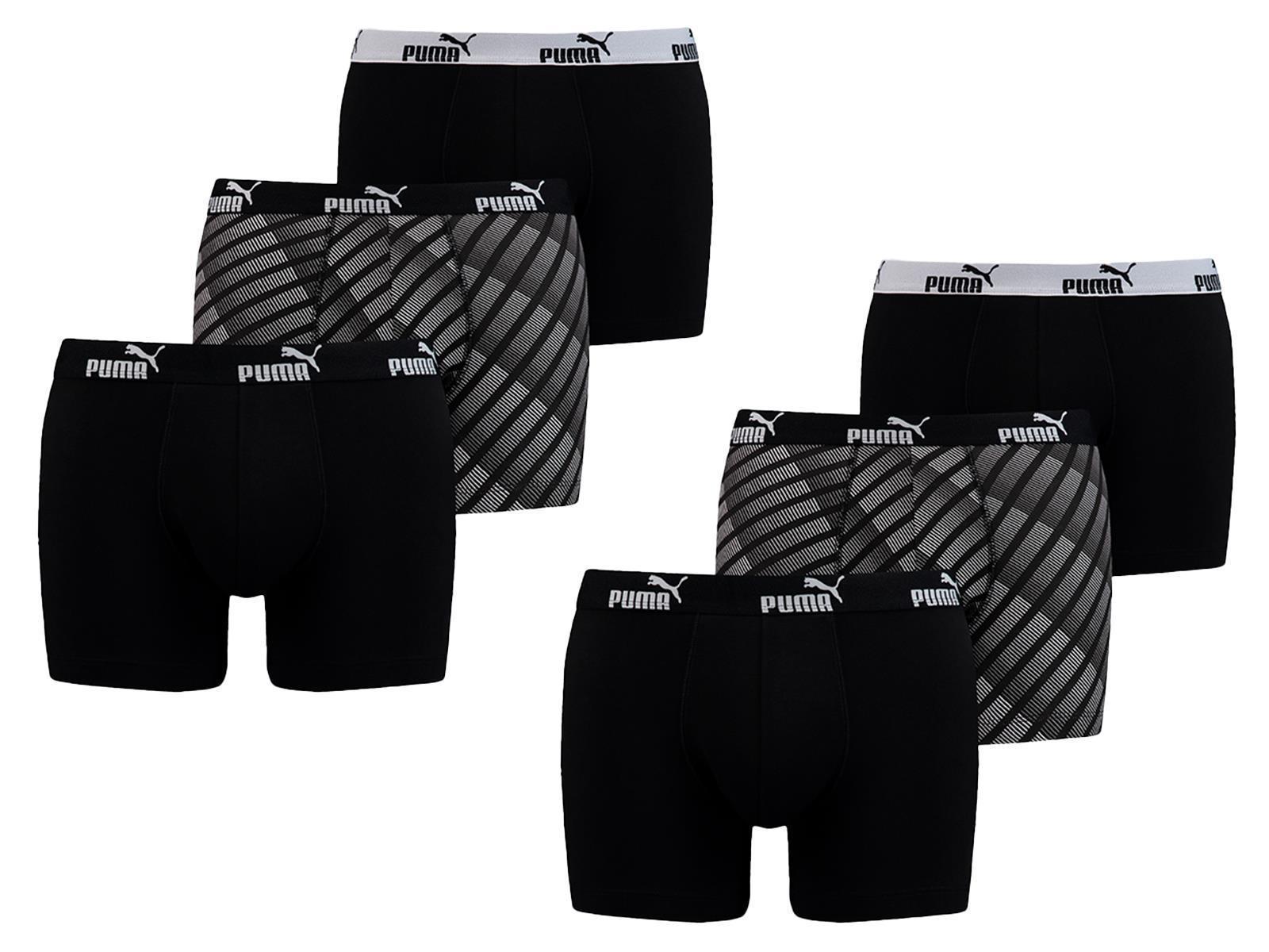 Puma Retro Boxershorts, 6er Pack, verschiedene Farben und Größen