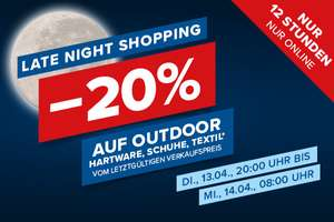 Late Night Shopping -20% bei Hervis