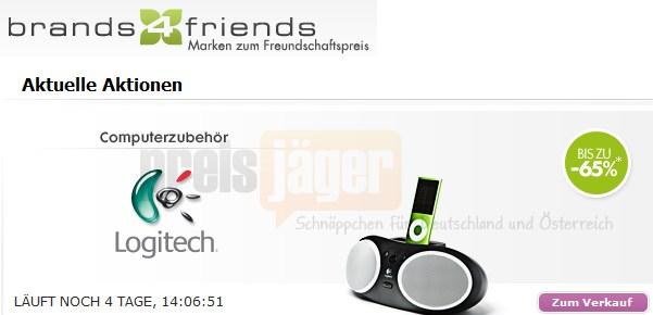 Kracher: Logitech-Schnäppchen bei brands4friends! 10€ Gutschein nicht vergessen. X-210 2.1 System für 23€, Laser Mouse V550 Nano für 14€ und vieles me