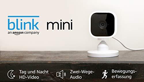 Blink Mini – eine kompakte, intelligente Plug-in-Überwachungskamera für den Innenbereich mit 1080p HD-Video und Bewegungserfassung