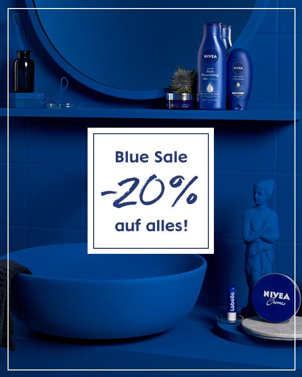 Blue Sale -20% im Nivea Onlineshop