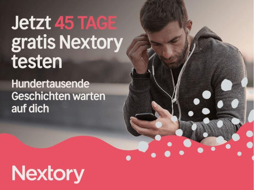45 Tage Nextory gratis testen!