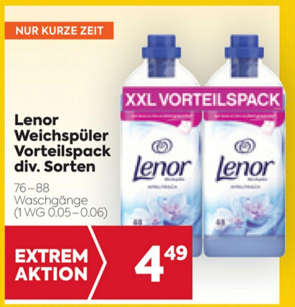LENOR Weichspüler 76-88 Waschgänge um € 4.49 beim BILLA/BILLA PLUS