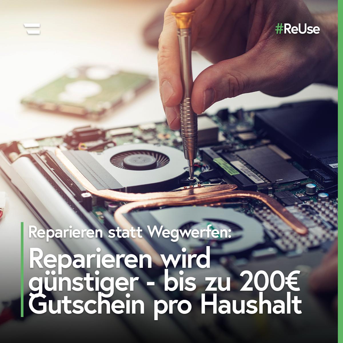 Reparatur-Gutschein für ganz Österreich