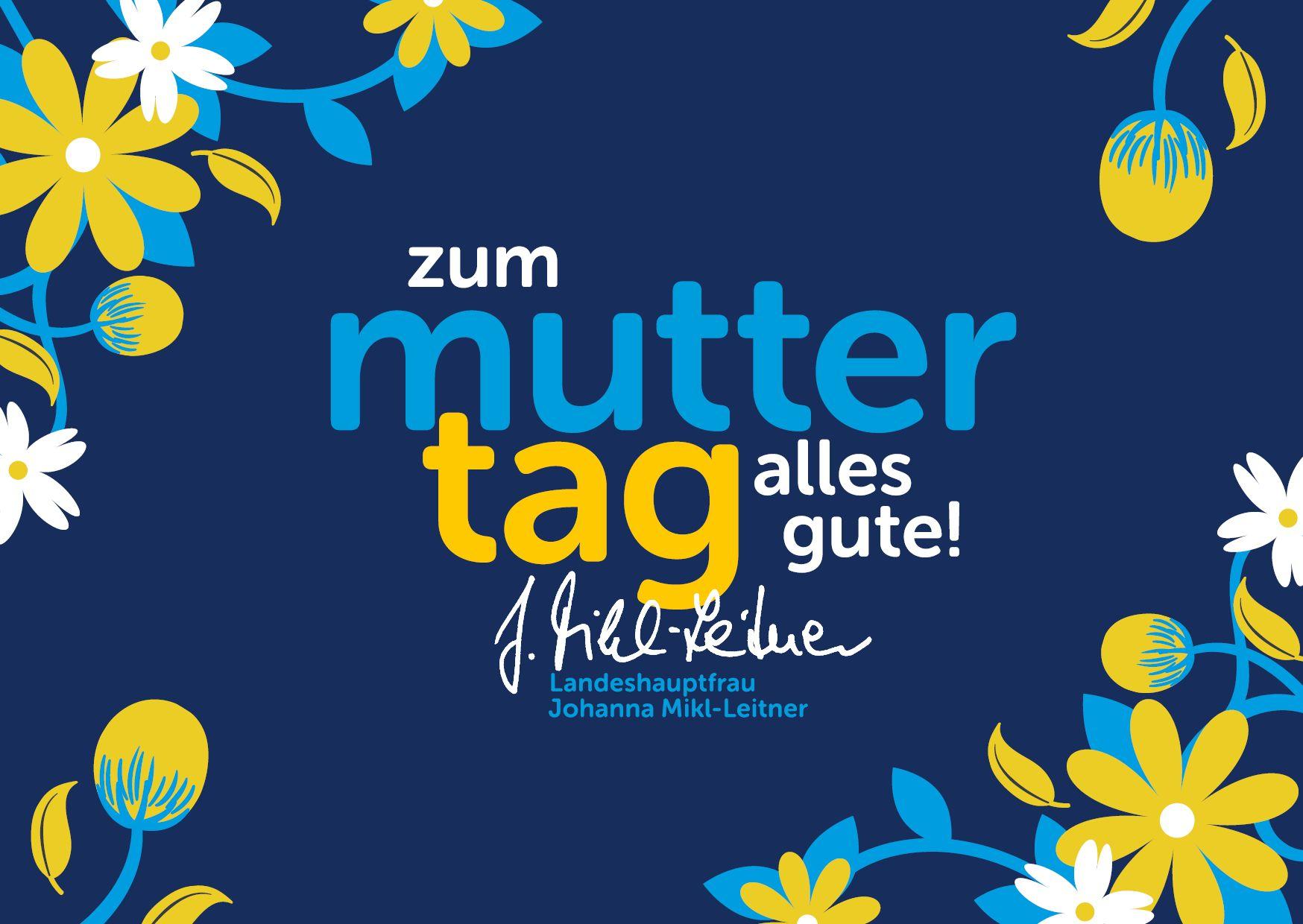Gratis Muttertags-Postkarte für Niederösterreicher inkl. Hanni-Widmung