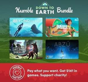 """""""Humble Down to Earth Bundle"""": Figment und Yono and the Celestial Elephants um 1€ / ABZU, LOST EMBER, Beyond Blue, Summer in Mara, Arida,..."""