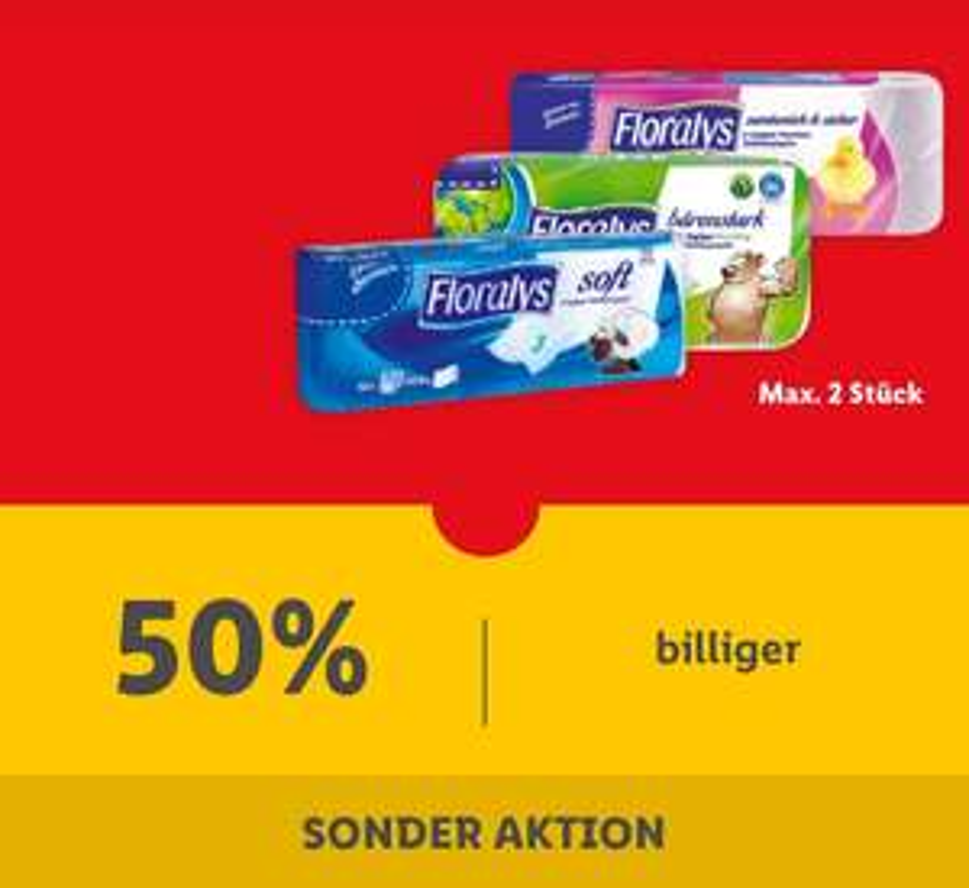 Klopapier bei Lidl -50%