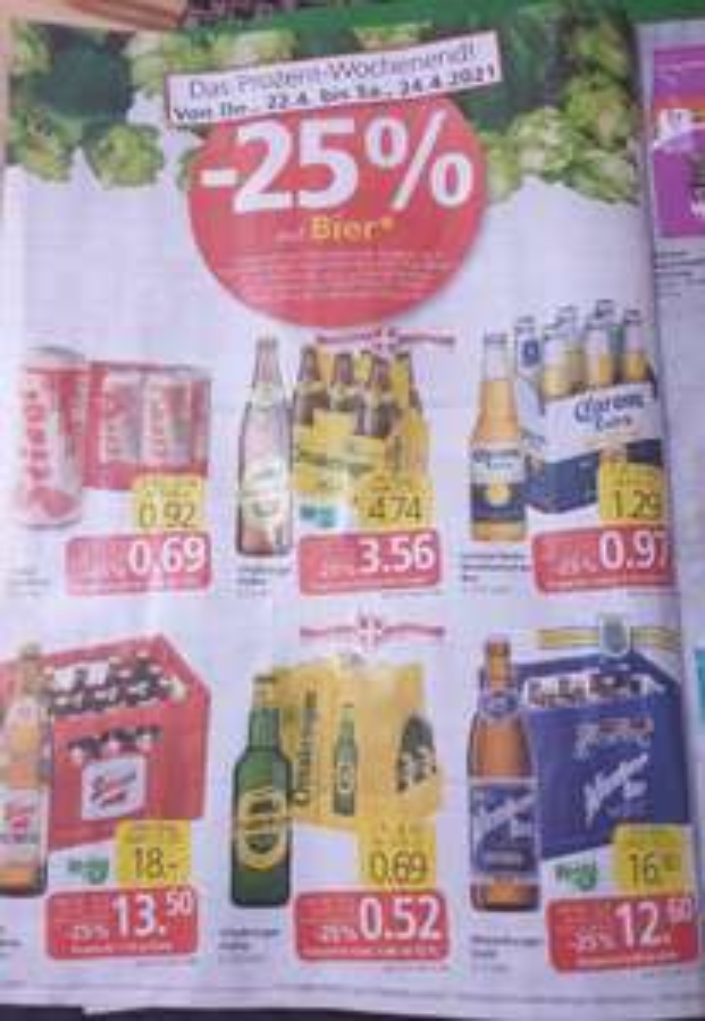25% auf Bier div. Sorten zBsp. Schwechater Dosenbier, bei Spar, Eurospar und Interspar!!!