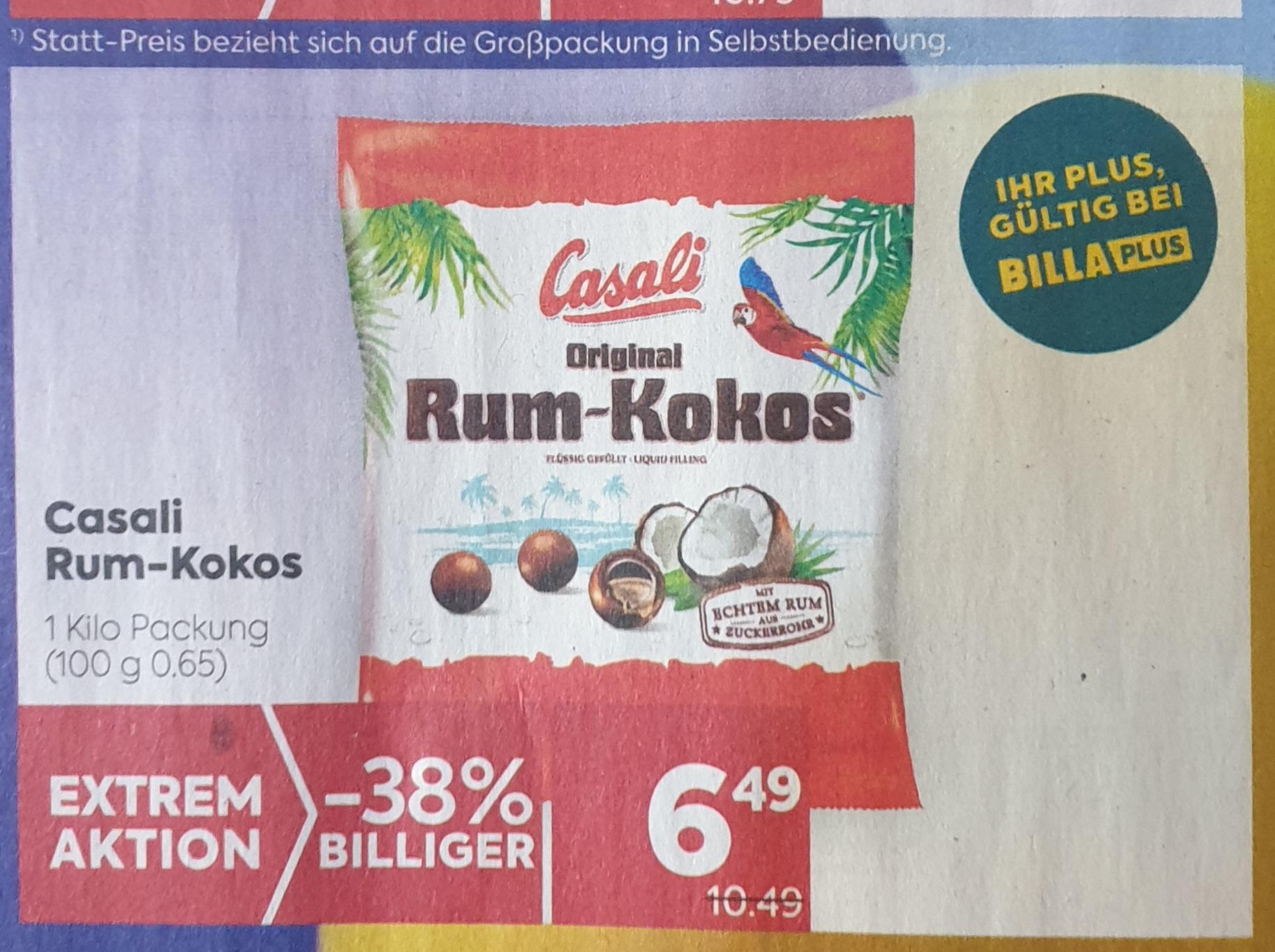1 kg Casali-Rum Kokos-Kugeln um 6,49 bei Billa-Plus