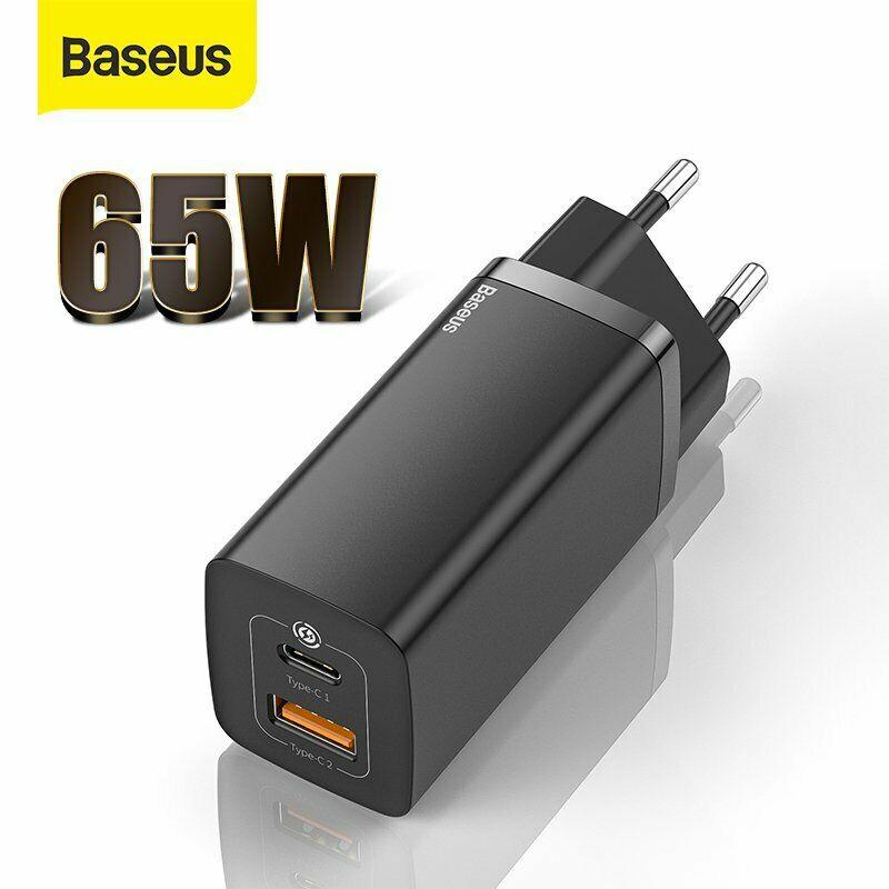 Baseus USB-C GaN Ladegerät /Netzteil mit 65W für 18,62€ ( z.B. für Samsung S21 S20 )