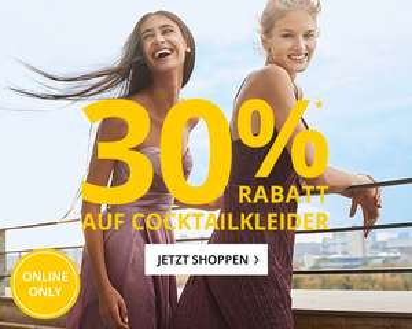 Peek & Cloppenburg: 30% Rabatt auf ausgewählte Cocktailkleider