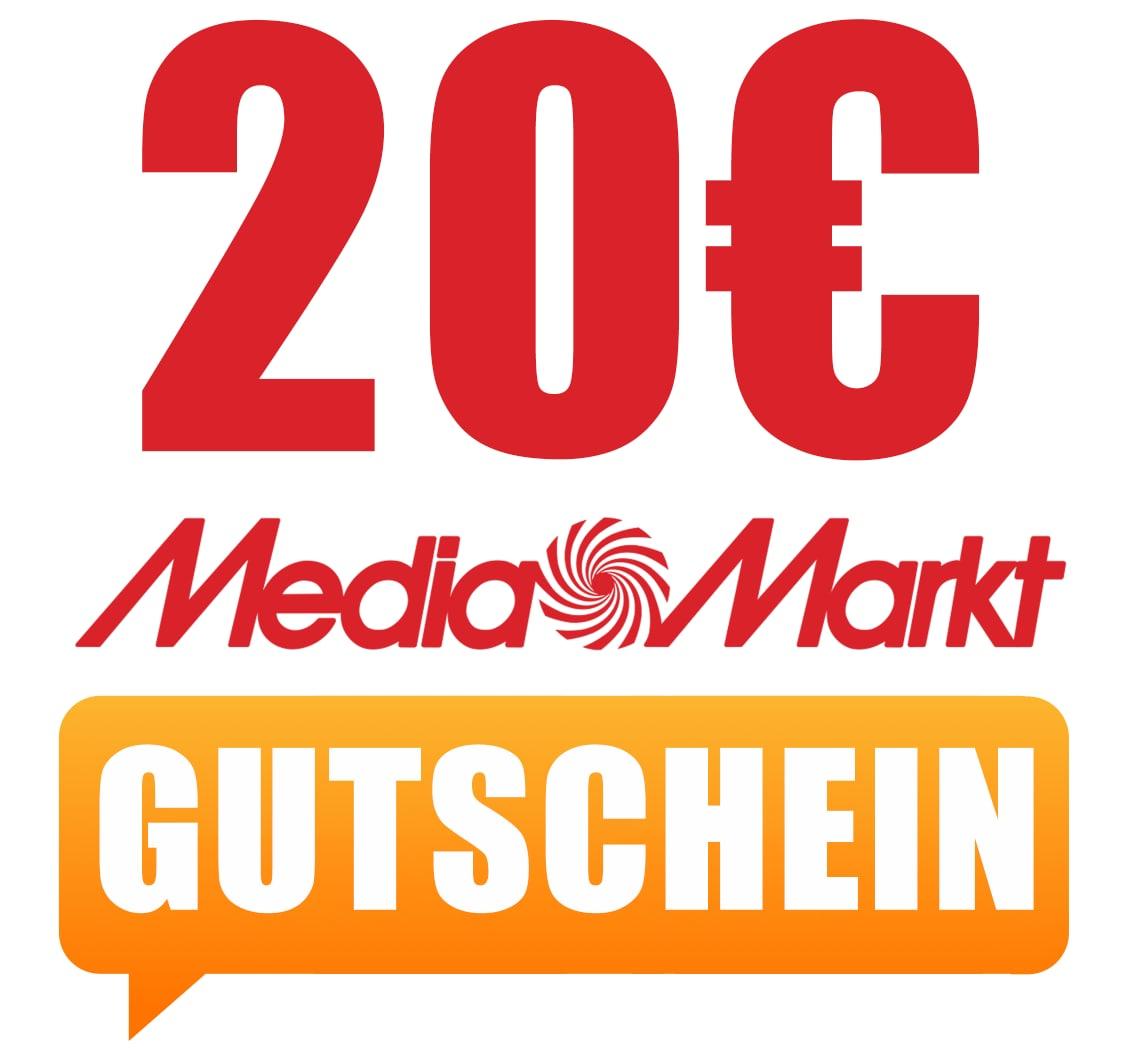 Media Markt - 20 € Sofort-Rabatt ab 222 € - kombinierbar mit Newsletter & Club Gutschein - bis zu 40€ sparen