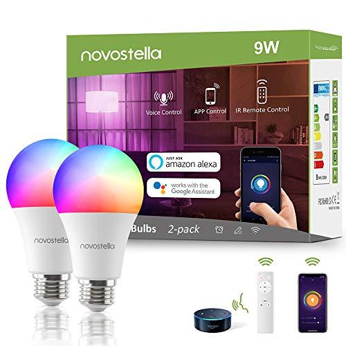 2x Novostella E27 Smart LED inkl. Fernbedienung