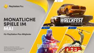 PS Plus Mai 2021: Wreckfest PS5, Battlefield V PS4, Stranded Deep PS4